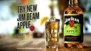 Still from Jim Beam Apple TV commercial
