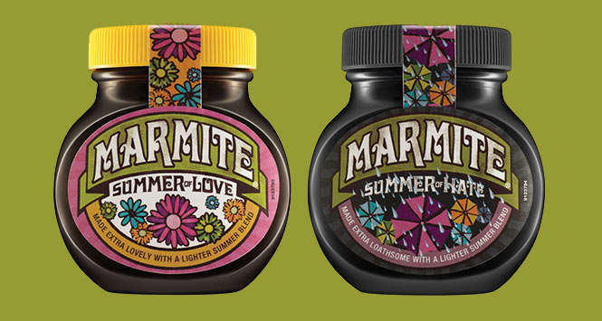 Marmite's Summer of Love/Summer of Hate Jars