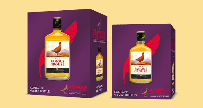 Famous Grouse four-pack cases
