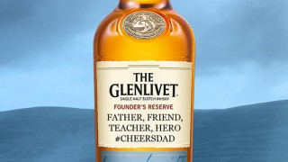 Glenlivet personalised whisky bottle