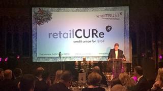 Richard Boland, speaking at the Retail Trust's Midsummer Celebration