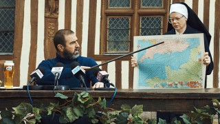 Eric Cantona outlines route of cross-Channel swim in Kronenbourg 1664 advert