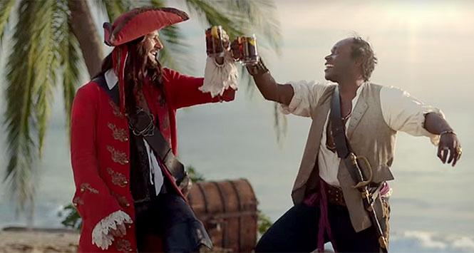 Still from Captain Morgan TV ad