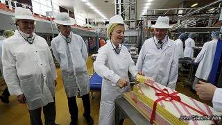 Elizabeth Truss opening Premier Foods' new production line