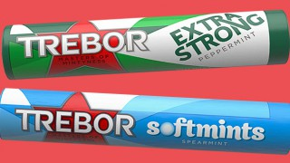 Trebor extra strong and soft mints