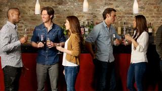 Group enjoying Britvic drinks