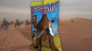 Bag of 'Chew my balls' sweets