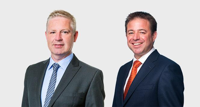 Darren Folker and Carlton Lawson