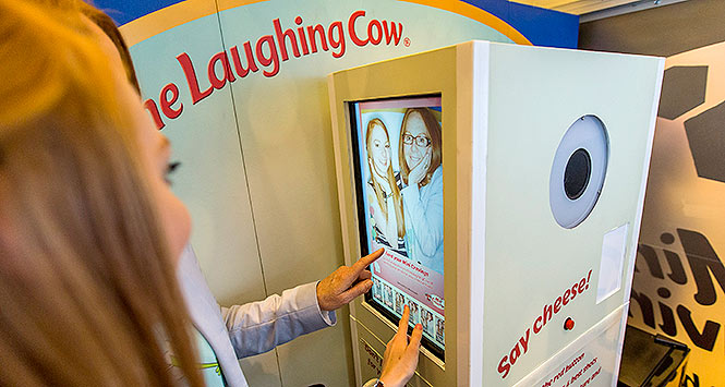 Laughing Cow photobooth