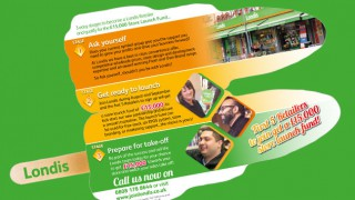 Londis lolly-shaped leaflet