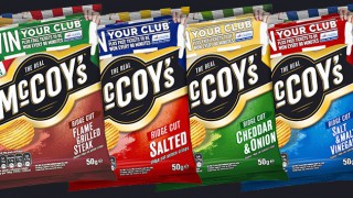 McCoy's 'Win your club' badged crisps
