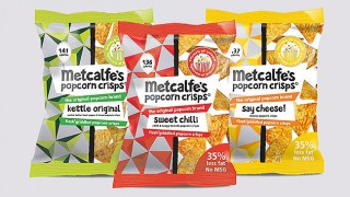 Metcalfe's skinny Popcorn Crisps range