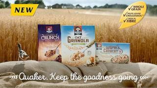 Quaker granola range
