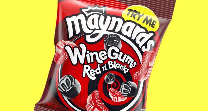 Maynards red and black wine gums
