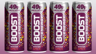 Boost Winter Spice cans