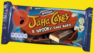 Jaffa Cakes spooky bars