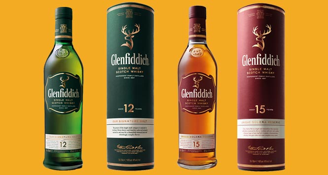 Glenfiddich 12 and 15 year old single malts