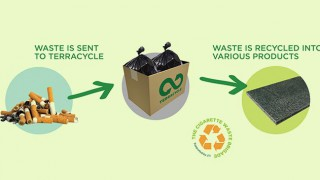 Cigarette waste gets recycled
