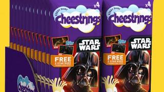 Star Wars' branded packs of Cheestrings