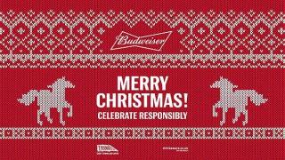 Budweiser Christmas jumper