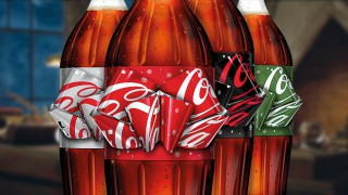 Coke 'magic bow' bottles