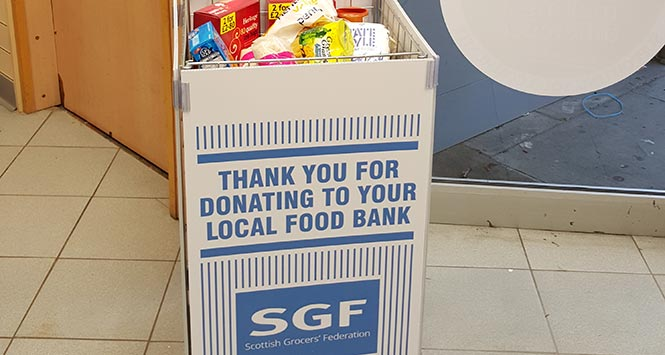 SGF foodbank donation point