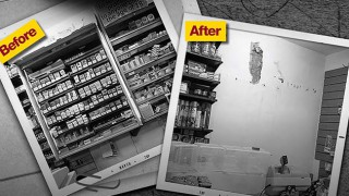 Before and after gantry removal images