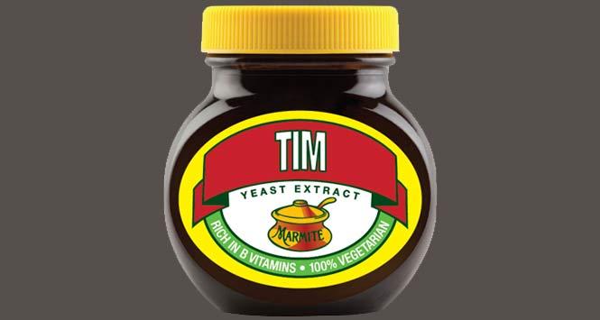 Personalised jar of Marmite