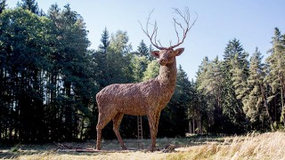 Extremely large stag statue