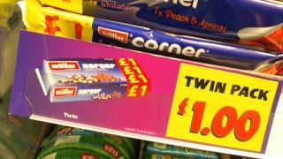 Pricemarked packs of yoghurt