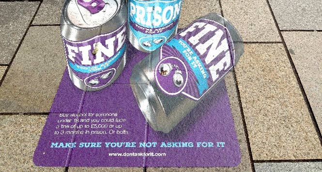 Pavement graffiti highlighting perils of proxy purchase