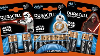 Stars Wars branded Duracell batteries