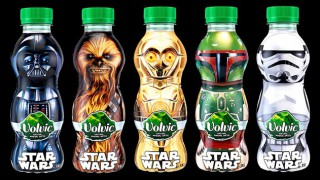Star Wars themed Volvic water bottles