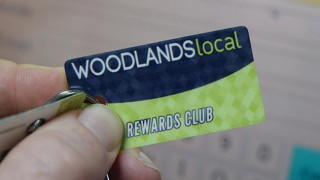 Woodlands Local Reward Club membership card