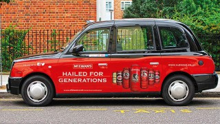 McEwen's-branded taxi