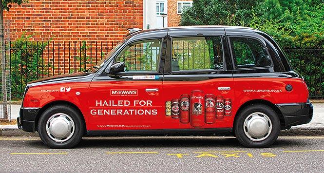 McEwen's-branded taxi
