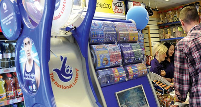 National Lottery display