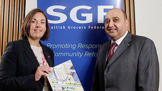 Kezia Dugdale with Pete Cheema