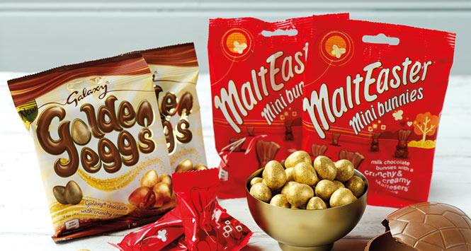 Galaxy Golden Eggs and MaltEaster mini bunnies