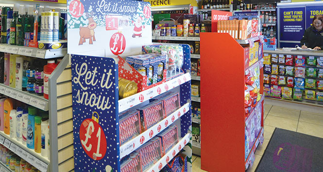 Christmas display in shop