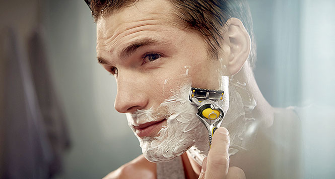 Shaving with Gillette's ProFusion razor