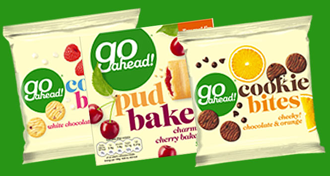 Go Ahead! pud bakes and cookie bites