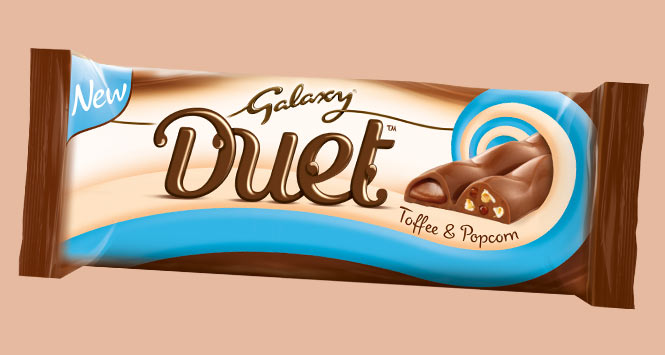 Toffee and popcorn flavour Galaxy Duet bat