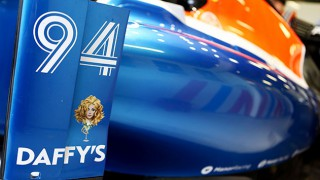 Manor Racing formula 1 car with Daffy's logo