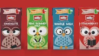 Muller school milk cartons