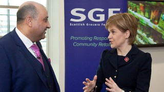 Pete Cheema and Nicola Sturgeon