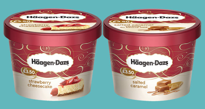 Häagen-Dazs tubs of ice cream
