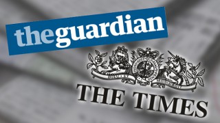 Times and Guardian logos