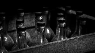 Crate of illicit alcohol