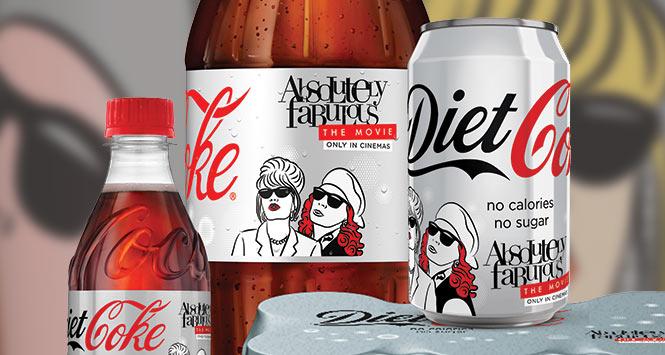 Absolutely Fabulous Diet Coke range
